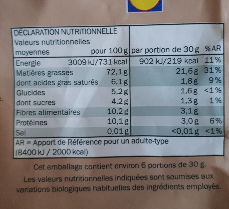 Noix de pécan - Informazioni nutrizionali - fr
