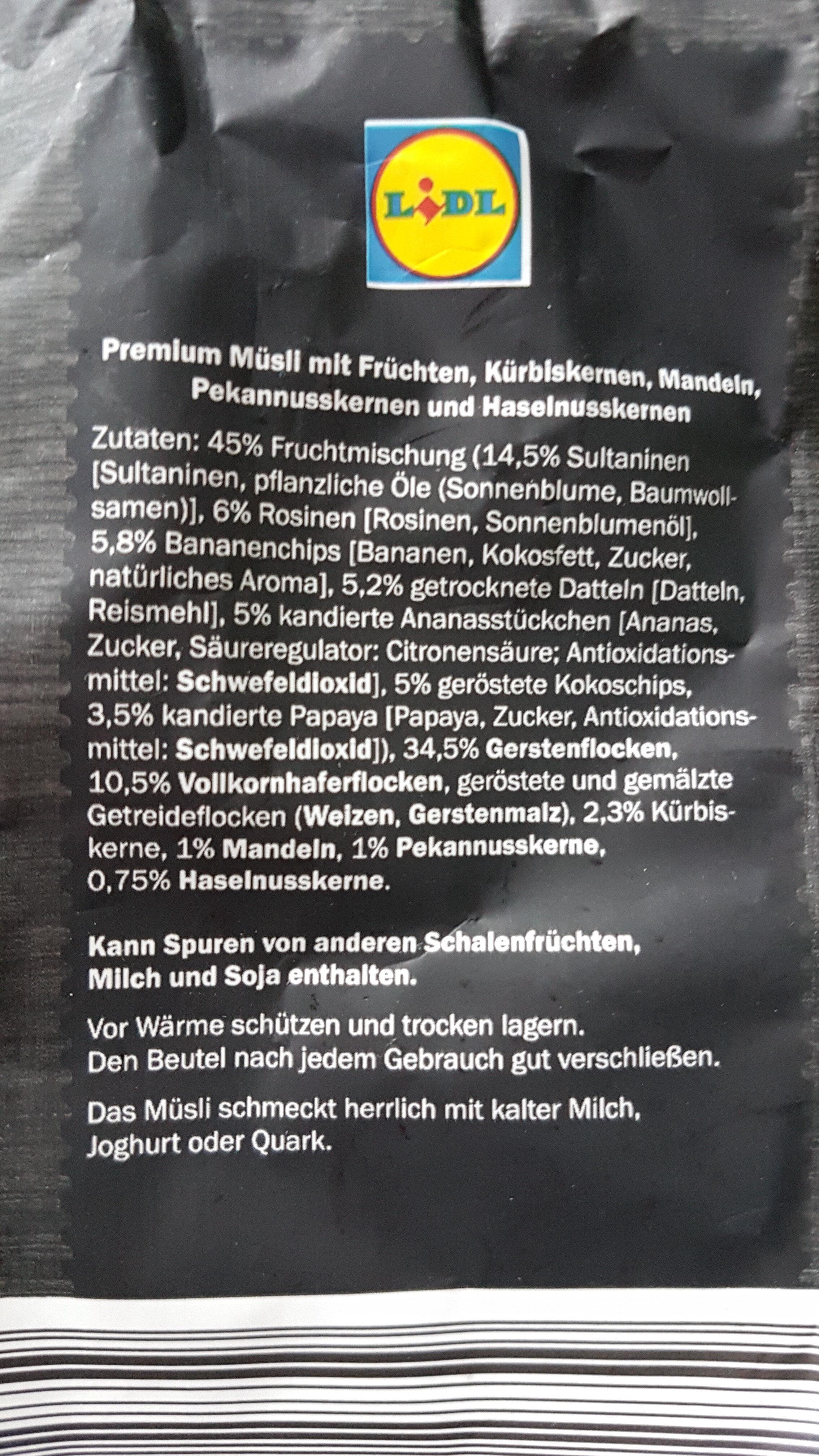 Premium muesli frutos secos y fruta - Produkt - de