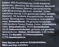 Premium muesli - Zutaten - de