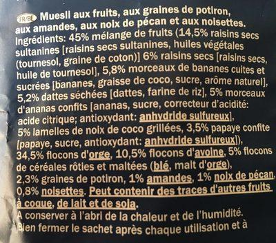 Premium muesli - Ingredients - fr