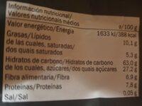 Premium muesli frutos secos y fruta - Informació nutricional - es