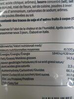 Mini pistachio biscotti - Informations nutritionnelles - en