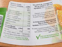 jus Orange-kiwi fraichement pressé - Voedingswaarden - fr