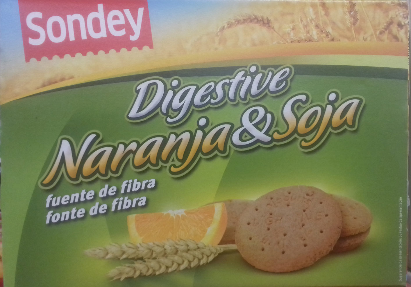 82156fb850 Galletas Digestive Naranja & Soja - Sondey - 800 g (2 x 400 g)