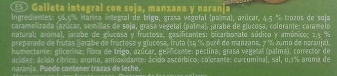 Galletas Digestive Naranja & Soja - Inhaltsstoffe - es