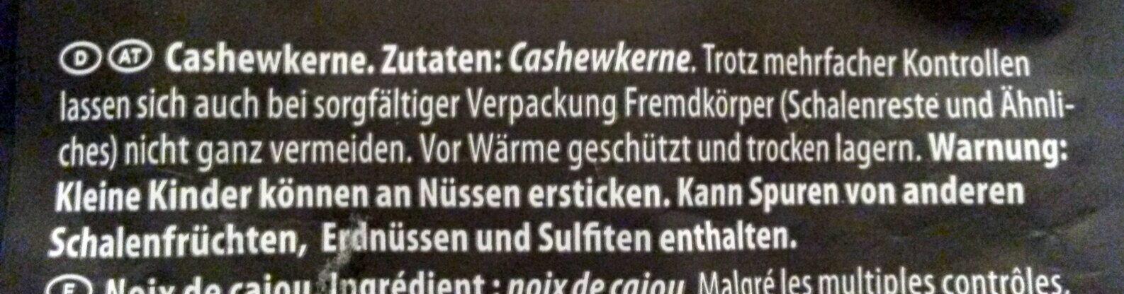 Cashewkerne, Naturell - Ingredienti - de