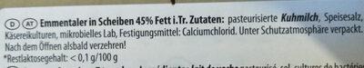 Bayerischer Emmentaler - Ingrediënten