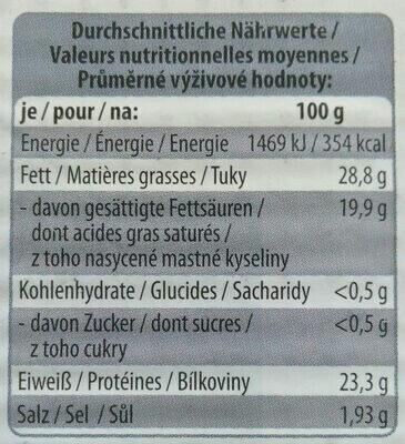 Leckerrom Gouda 48% Fett i. Tr. - Nutrition facts