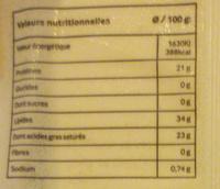 Fromage de chèvre en tranches - Informations nutritionnelles