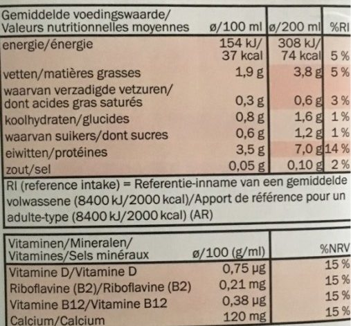 Bravo Nuss mischung - Informations nutritionnelles - fr