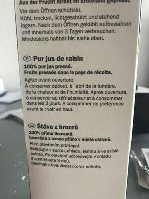Traubensaft - Ingrediënten - de