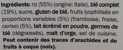 Special flakes - Red berries - Ingredients - fr