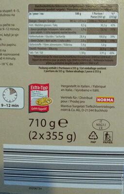 STEINOFEN PIZZA Thunfisch - Nutrition facts