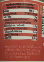 Sahnejoghurt. Erdbeere - Nutrition facts