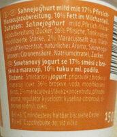 Sahne-Joghurt       Pfirsich-Maracuja - Ingredients