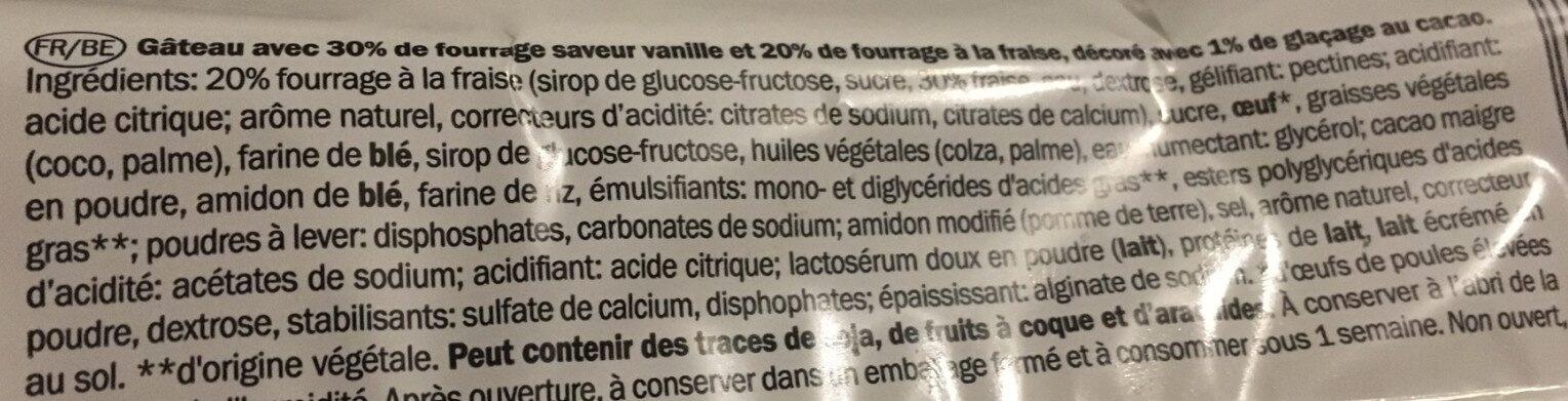 Rührkuchen Rolle, Erdbeer - Ingrédients - fr