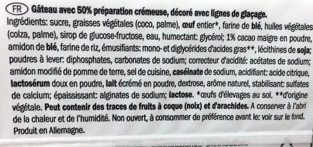 cake choco - Ingrédients - fr