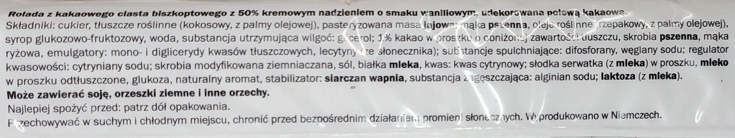 Cake cacao - Składniki - pl