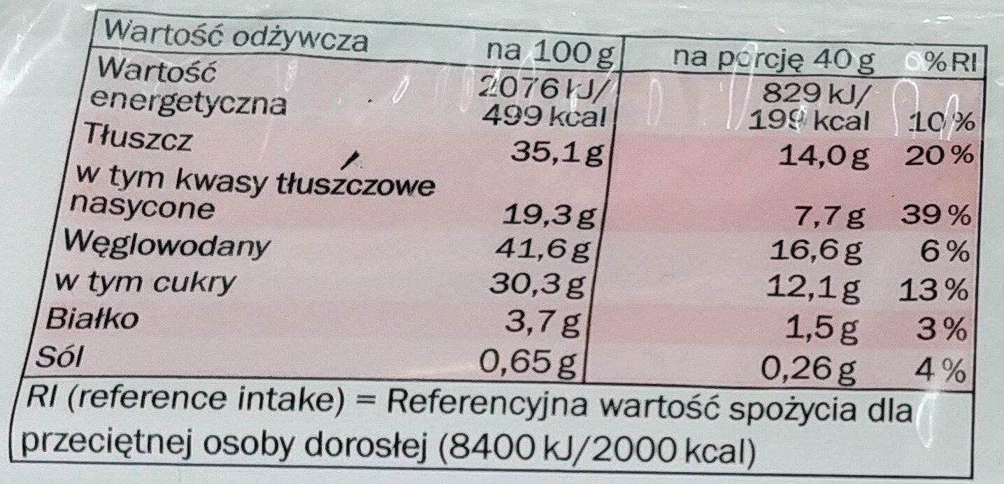 Cake cacao - Wartości odżywcze - pl