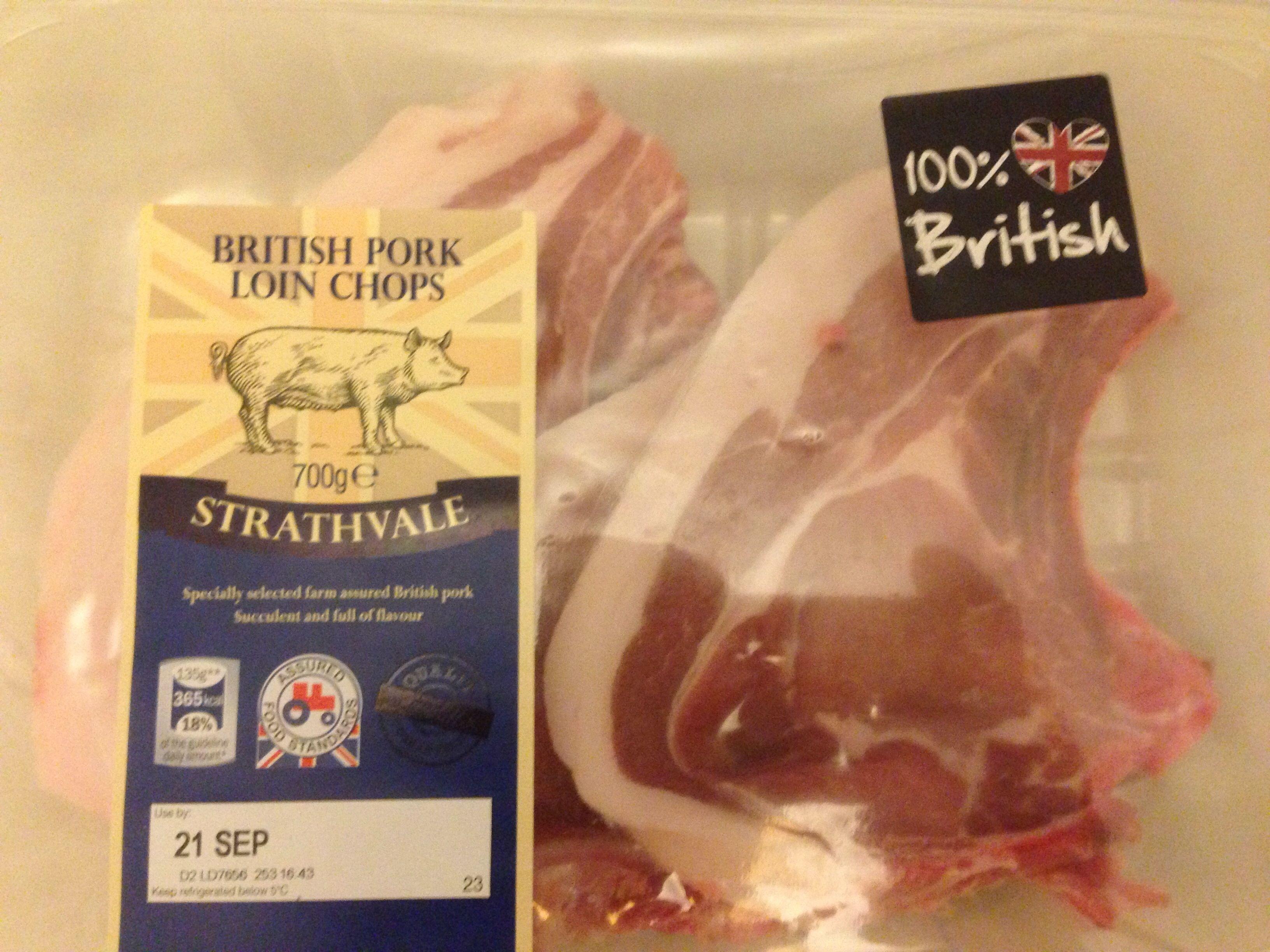 British Pork Loin Chops - Product - en
