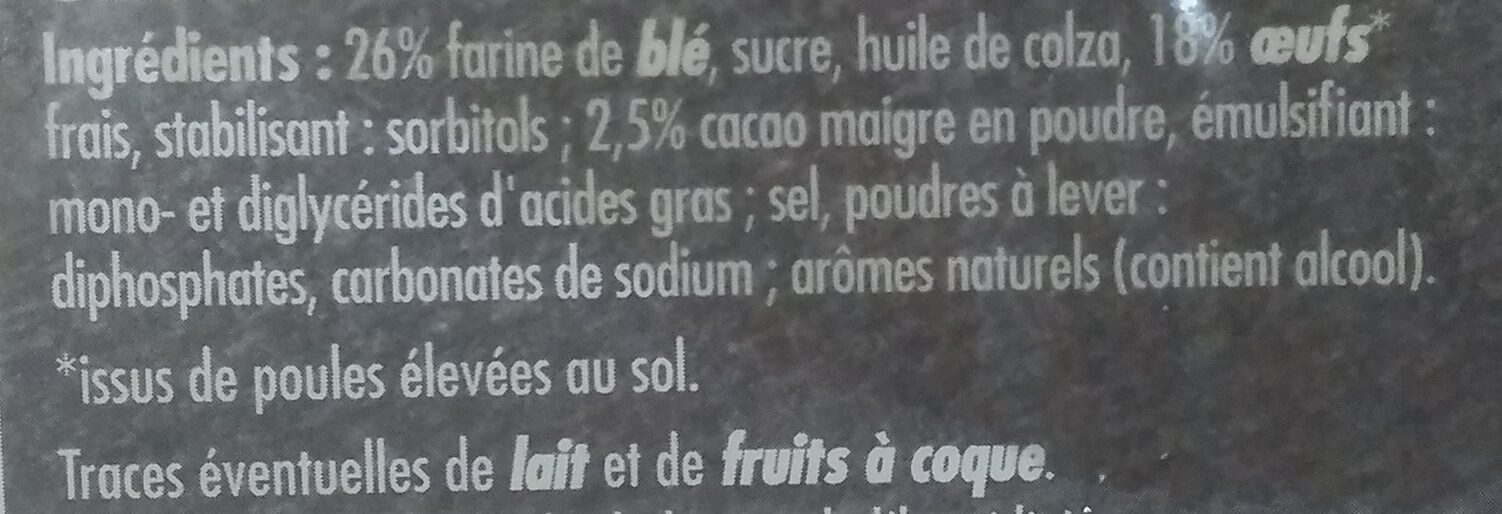 Barre marbrée - Ingredients - fr