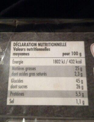 Barre marbrée - Nutrition facts - fr