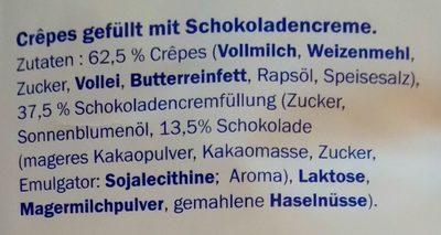 Crèpe chocolat - Inhaltsstoffe