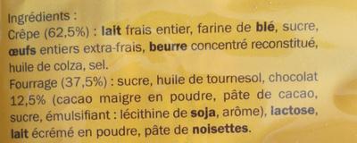 Crèpe chocolat - Ingrédients - fr