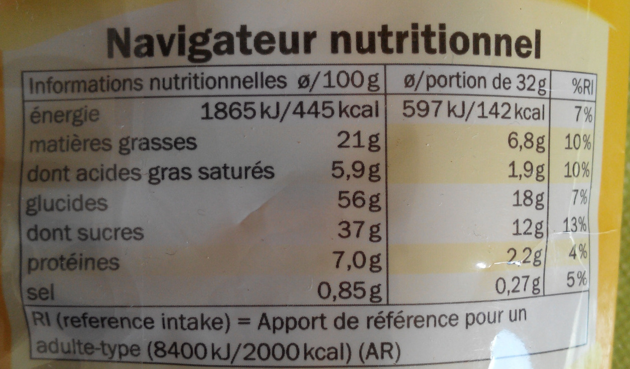 Crèpe chocolat - Informations nutritionnelles - fr