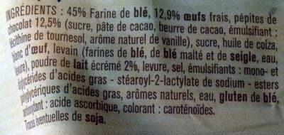 10 Pains au lait aux pépites de chocolat - Ingrédients
