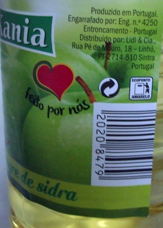 Vinagre de pomme - Nutrition facts