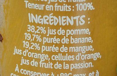 Smoothie Pomme, banane & mangue - Ingrediënten