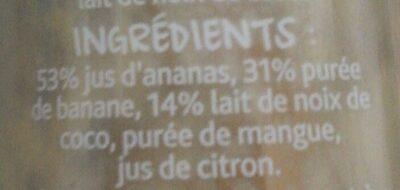 Frullato ananas banana cocco mango - Ingredients - fr