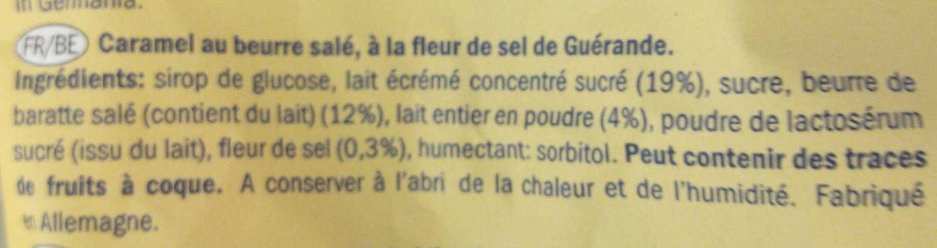 Butter Toffee - Ingrédients - fr