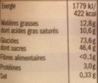 Butter Toffee - Informations nutritionnelles - fr