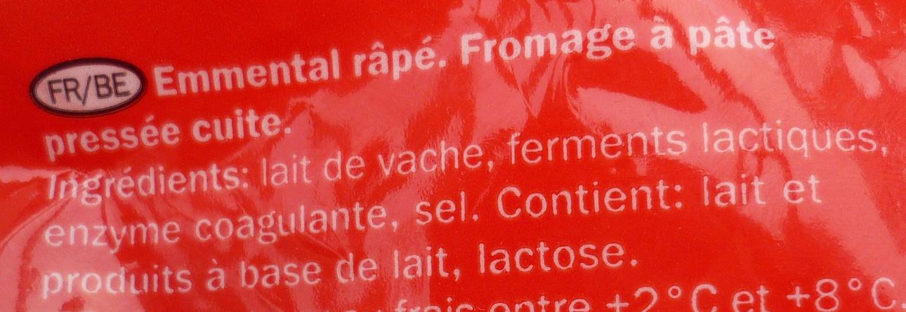 Emmental français râpé - Ingrediënten