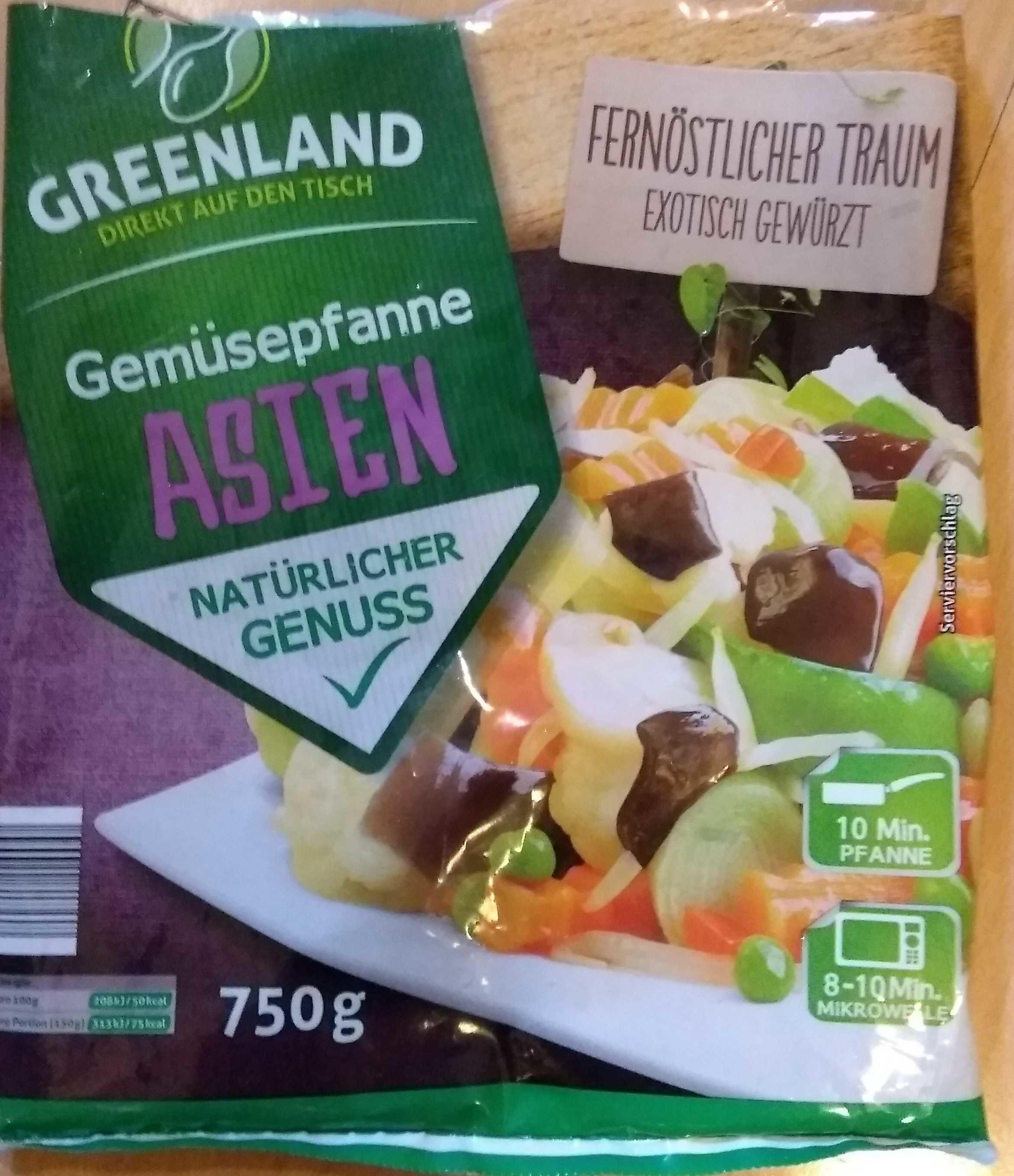 Gemüsepfanne Asien - Produkt