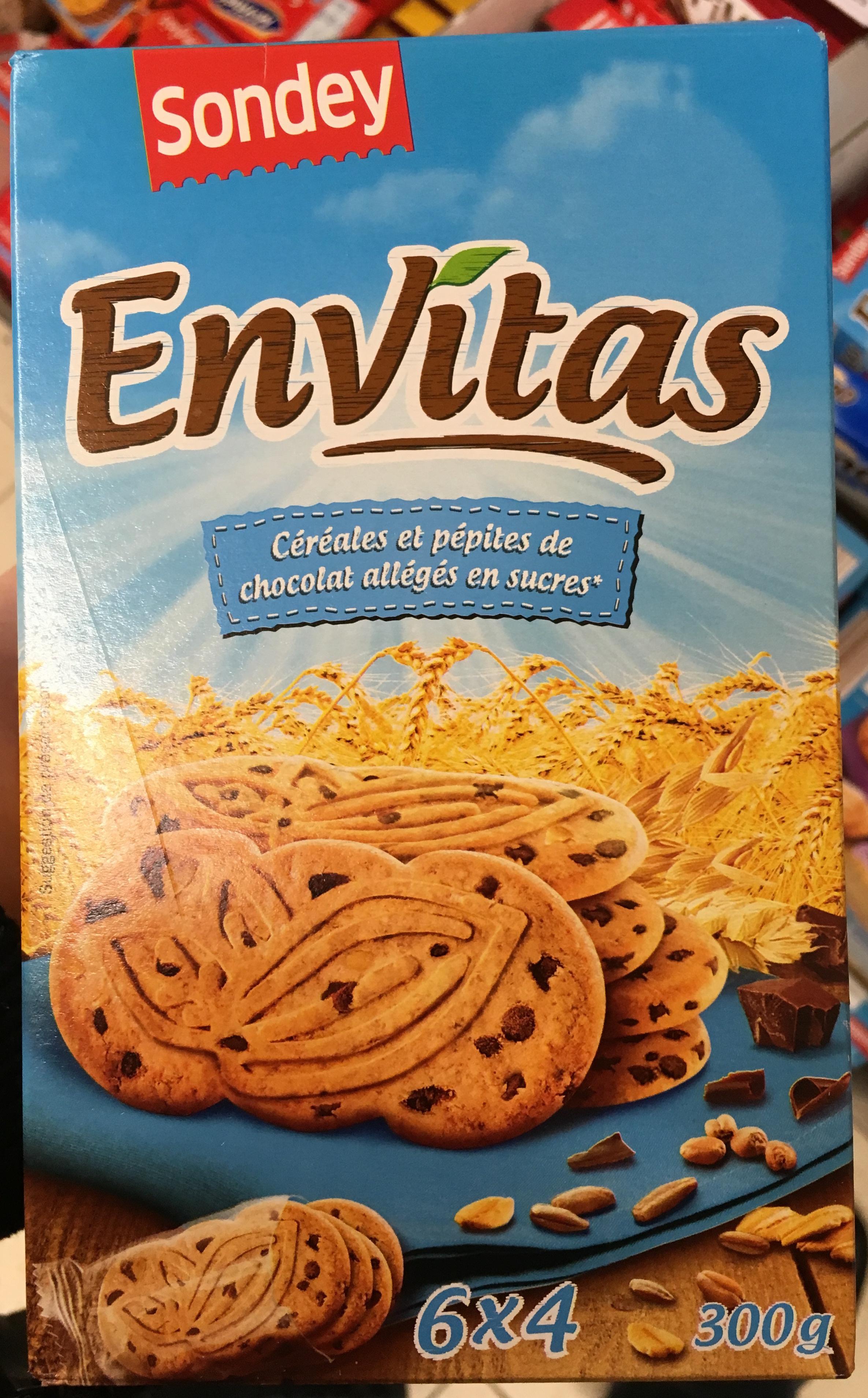 Envitas céréales et pépites de chocolat allégés en sucres - Produit - fr