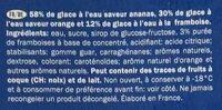 SPACE RUNNERS - Ingrediënten - fr
