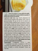Deluxe Ice Cream Dessert Mangue et Vanille - Ingrédients - fr
