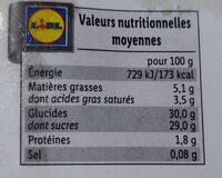 Deluxe Ice Cream Dessert Mangue et Vanille - Informations nutritionnelles - fr