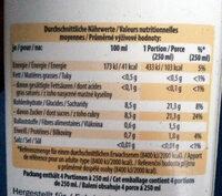 Orange Premium Direktsaft - Nährwertangaben