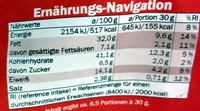 Cruspies Chili - Nutrition facts