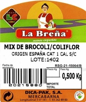 Mix de brócoli y coliflor - Ingredients - es
