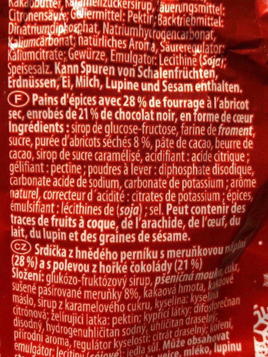 Goldora Gefüllte Lebkuchen Herzen - Ingrédients