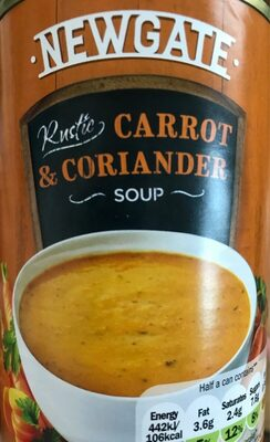 Carrot and coriander soup - Product