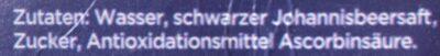 Schwarze Johannisbeere Nektar - Ingredienti