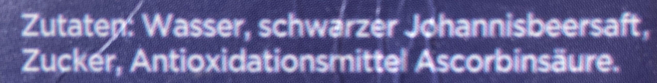 Schwarze Johannisbeere Nektar - Ingredienti - de