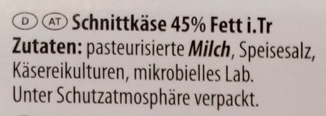 Maasdamer - Ingrediënten - de