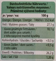 Maasdamer - Voedingswaarden - de